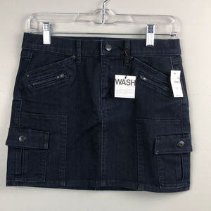 Gap 1969 Dark Wash Cargo Denim Mini Skirt 25 / 0